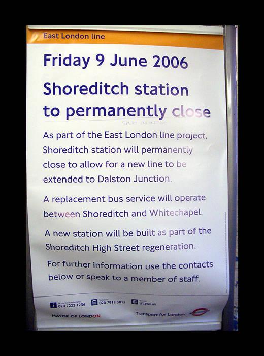London Map Shoreditch Area: Shoreditch